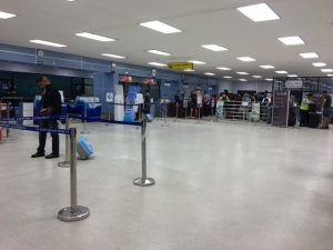 Check in desks at Pattaya International Airport